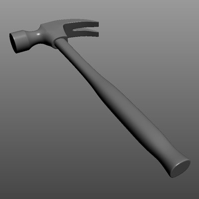claw hammer 3d obj