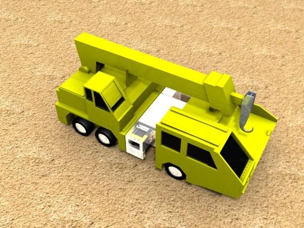 3d model of hook crane construction