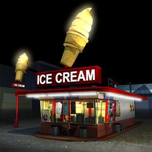3d ice cream drive 01