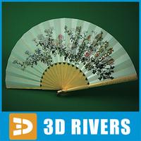 japanese fan 3d max