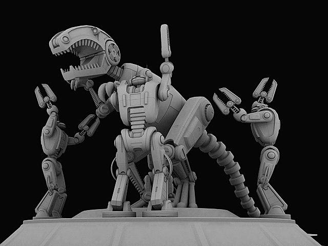 3d robot dinosaur model