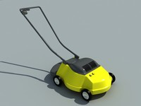 3d model lawnmower garden