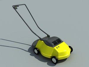 3d model lawnmower garden