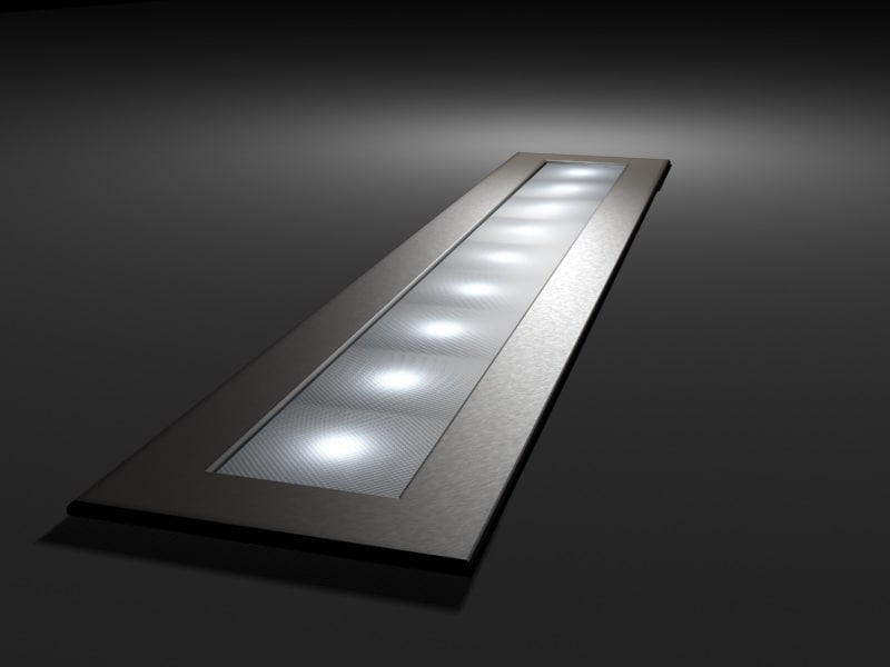 led light strip brushed metal 3d model