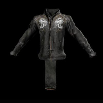 3d obj leather flyers jacket