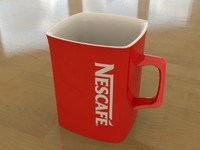 3d model mug coffee nescafe