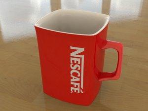 3d model mug coffee nescafe