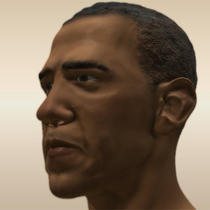 3d head president obama