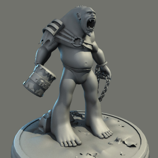 orc character creature 3d dxf