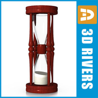 3d sandglass clock model