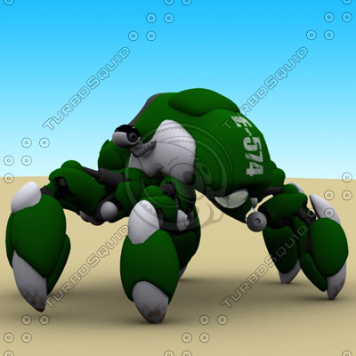 3d model spider mechanical