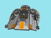 3d lego snowspeeder model