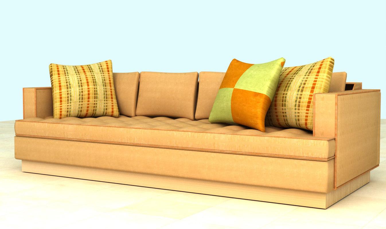 3d sofa living room model