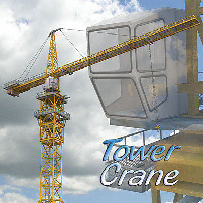 tower cranes obj