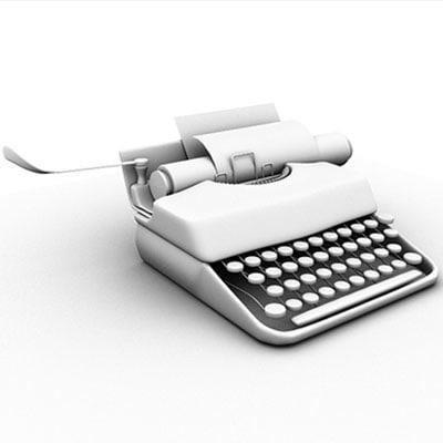 obj typewriter