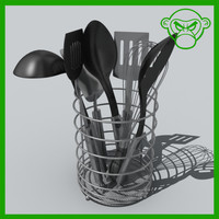 utensil holder 3d model