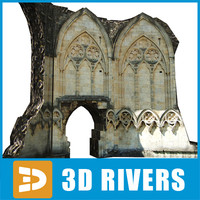 wall gothic building 3ds