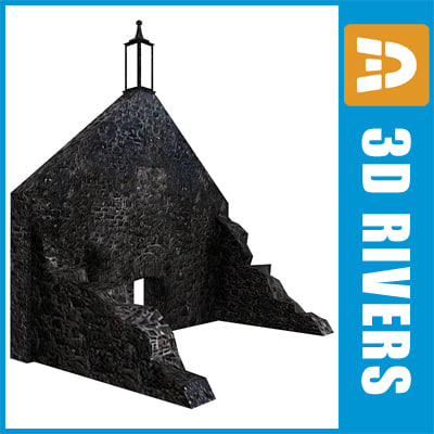 3ds max wall ruined building