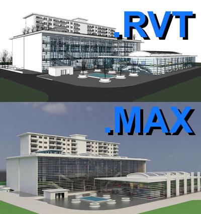 revit multi purpose building 3d model