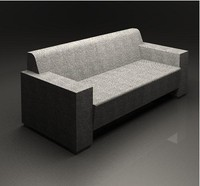 modern seat sofa 3d model