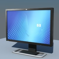 3ds max low-poly monitor hp l3065
