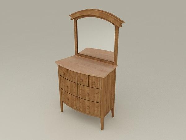 3d model nimbus dressing table beds
