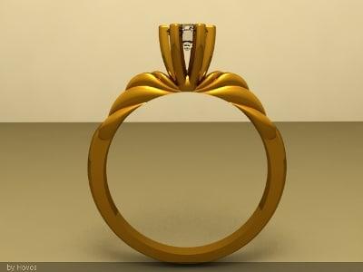 rhino susan gold ring