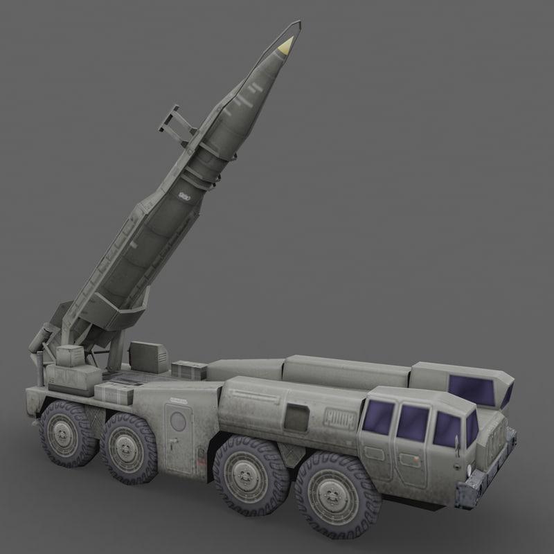 3d scud launcher model