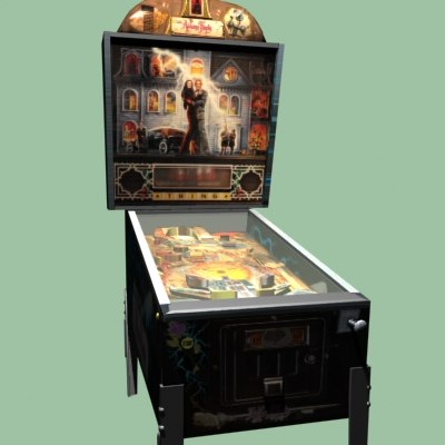 3d addams family pinball model