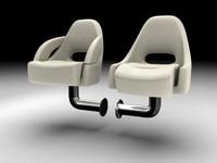 3d model seats boat