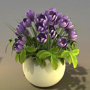 3d model flower bouquet