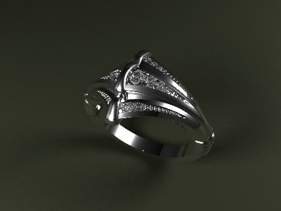 cobra gold ring 3d 3dm