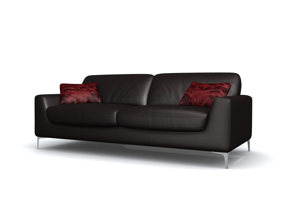 3d 3ds finigan leather sofa