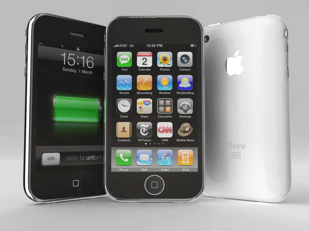 apple iphone 3g 3d obj