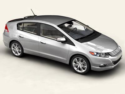 honda insight 2010 car 3d model