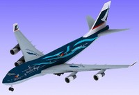 3d model hongkong airline