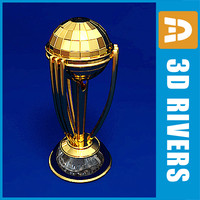 3d model cricket world cup