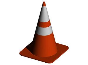 free traffic cone 3d model