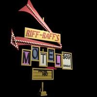 Hotel Motel Sign Retro design Highway Rest Stop style