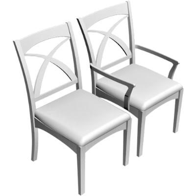 dining armchair chair obj
