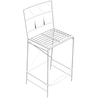 outdoor chair 3d obj