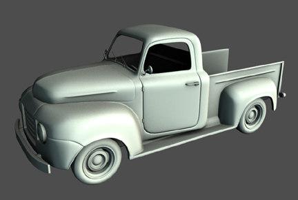 old pickup truck 3d obj