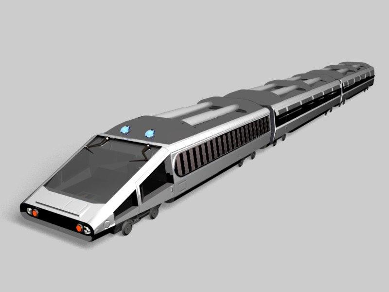 train futuristic 3d model