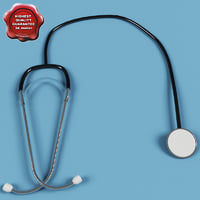 3d stethoscope modelled