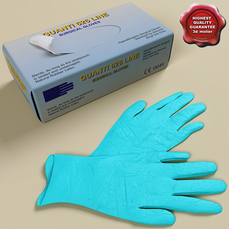 surgical gloves 3d 3ds