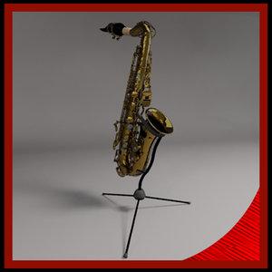 brass saxophone 3d model