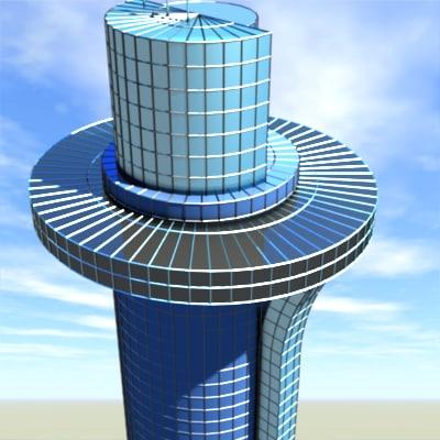 3d model modern skyscraper tower office building