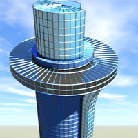 3d model modern skyscraper tower office building