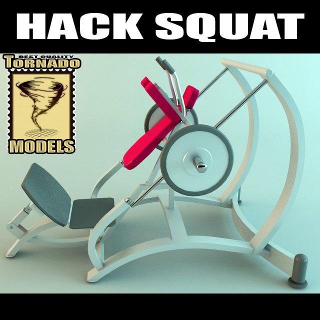 3d model hack squat