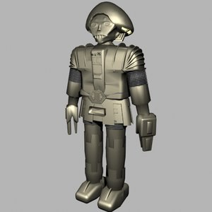 robot character twiki 3d model